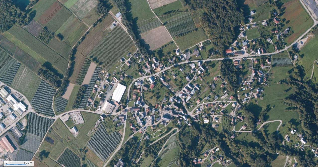 Vue aérienne de Sainte-Hélène-sur-Isère