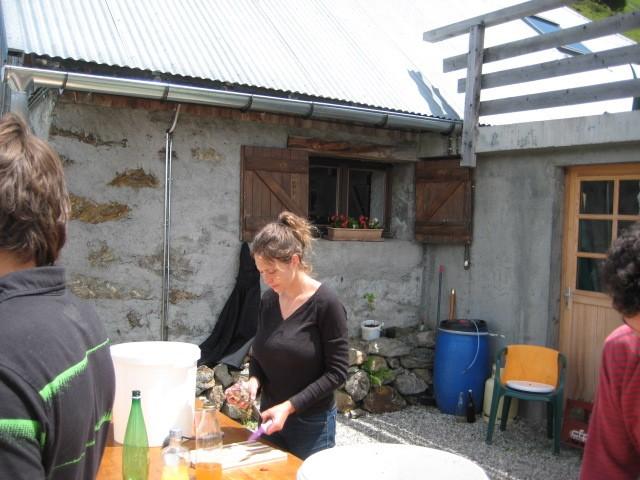 La Thuile :  la gardienne du refuge
